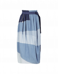 REFINE: Patchwork side-tie skirt