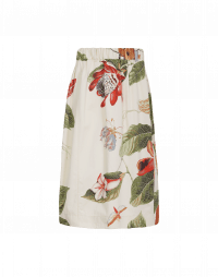 FERVOUR: Cotton skirt with oversize botanical print