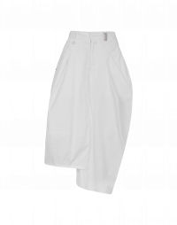 JAUNTY: Gonna a pantalone in drill di cotone color crema
