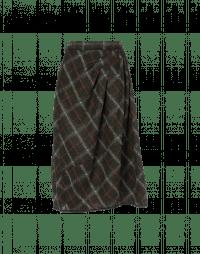 CHECKMATE: Full skirt in blanket check jersey