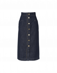 TEMPTED: Denim button-thru pencil skirt