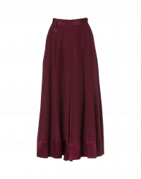 PLENTIFUL: Very full divided skirt in burgundy crêpe