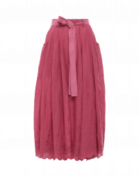RE-CREATE: Pink ramie skirt with embroidery