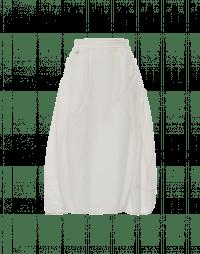 WONDER-FUL: Cream skirt with gathered side panels