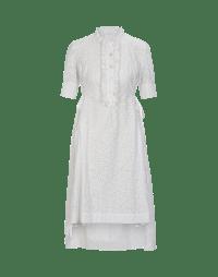 BEAUTIFY: Shirtwaist dress with frill front