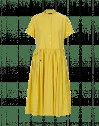 BEFRIEND: Abito ampio in popeline giallo