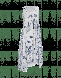 REJOICE: Abito in jersey con motivo floreale blu e bianco