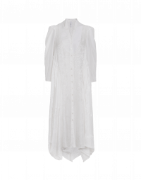 REQUIREMENT: Bib front shirtwaist dress