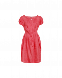DILLY: Pale red ramie shift dress