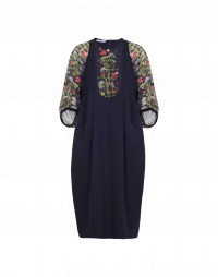 MARVELLOUS: Jersey and voile dress
