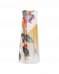 ROUND-ABOUT: Sleeveless dress with oversize floral print