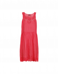 PERSUASION: Sleeveless ramie dress with embroidery