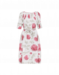 BLOOM: Pink, green and white floral shift dress