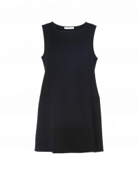 FORFEIT: Short, sleeveless A-line double-face cashmere dress