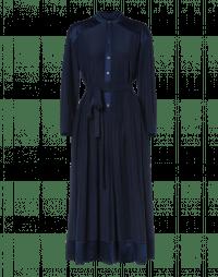 SINCERITY: Navy shirtwaist dress with full skirt