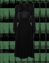 PANDORA: Hi-waist dress in satin and viscose