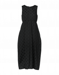 DAUNTING: Black sleeveless dress with 3D polka dots