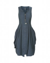 CABOODLE: Ballonkleid in Airforce-Blau