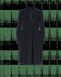 ETIQUETTE: Hi-waist dress with drawstring hem