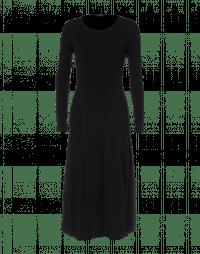 ALL WAYS: Black wool jersey dress