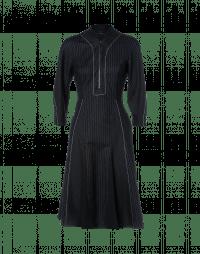 CONTOUR: Pinstripe and plain zip front dress