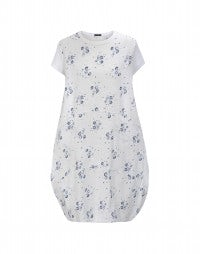 CALYPSO: Calypso blue floral cotton dress