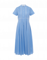 INVITED: Short sleeve shirtwaist dress with pin-tucked bodice