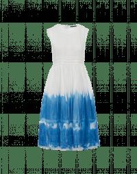 COQUETTE: Abito con sfumatura tie-dye blu