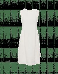 EXPRESSIVE: Ivory sleeveless bell shape shift dress