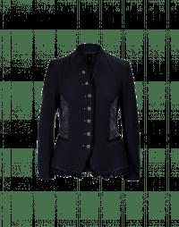 EYRE: Giacca in jersey di lana blu