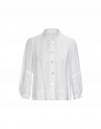 INTRICATE: Full sleeve shirt with wide hem