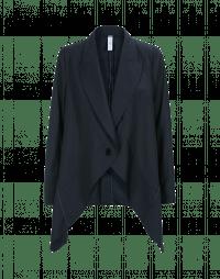 SWANKO: Giacca drappeggiata blu navy e grigio