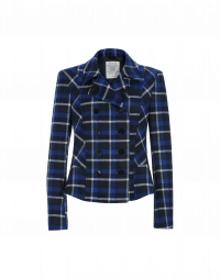 THACKERAY: Blue and white check cloth jacket