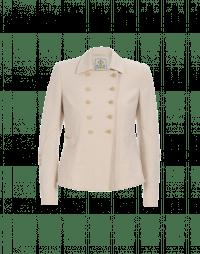 OPPOSE: Giacca corta in lana cotone color crema