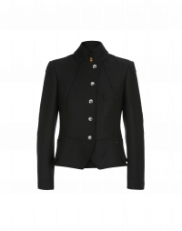 GIFTED: Short stand collar jacket in black jersey