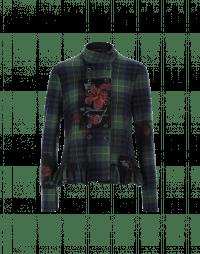 TOP NOTCH: Giacca scozzese con sovrastampa floreale