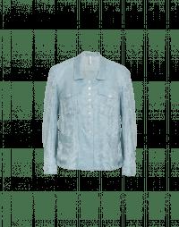 CHIT-CHAT: Giacca-camicia con motivo damascato azzurro