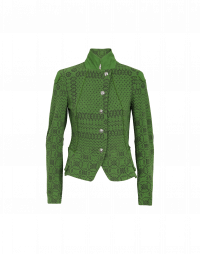 GIFTED: Giacca corta in jersey verde