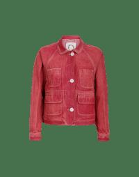 VENTURE: Giacca corta in denim rosso