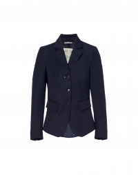 INTELLIGENT: Short shaped jacket in navy twill