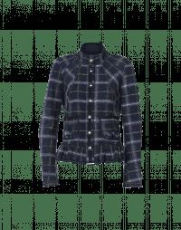 REVELRY: Stand collar jacket with peplum hem