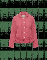 GO-YONDER: Giacca rosa con balze