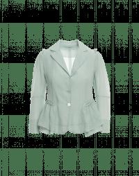 CAPRICE: Lightweight jacket in pale blue silk seersucker
