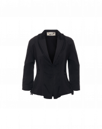 WELCOME: Giacca nera aderente con collo a scialle