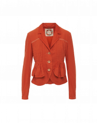 SET-OUT: Apricot jacket with multiple pin-tucks