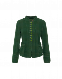 RIGHTEOUS: Unstructured jacket in green linen