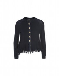 URCHIN: Knitted swing jacket with loop hem
