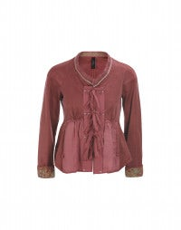 MADRIGAZ: Red embroidered swing back jacket