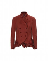 DRAGOON: Red wool and velvet jacket