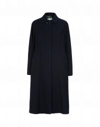 REALM: Navy single breasted fly front coat